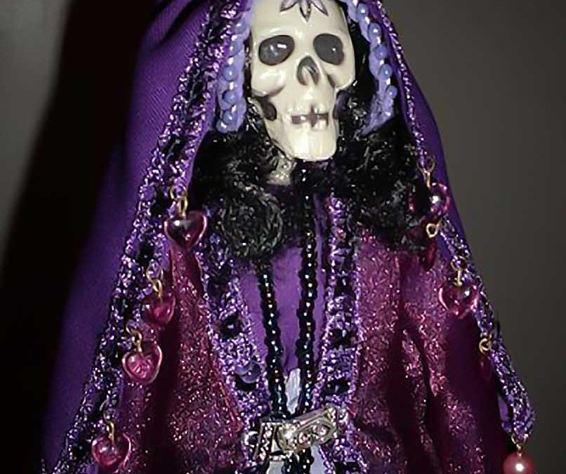 La Niña Purpura, el aspecto purpura de la Santa Muerte